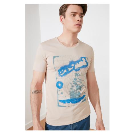 Trendyol Beige Men's T-Shirt