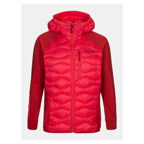 Bunda Peak Performance M Helium Hyb Hood Jacket - Červená