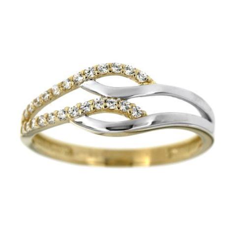 Dámský dvoubarevný zlatý prsten 1705