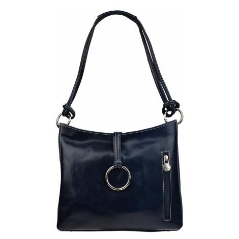 Modrá kabelka přes rameno Veroncia Blu Argento