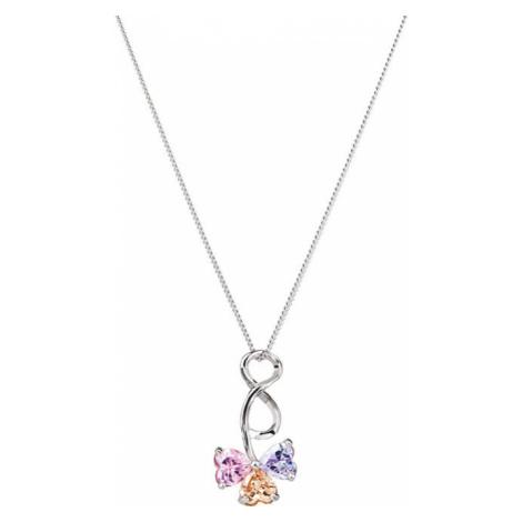Preciosa Stříbrný náhrdelník s třpytivým přívěskem Silky 5070 70 (řetízek, přívěsek)