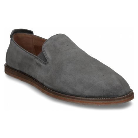 Šedá pánská kožená slip-on obuv Baťa