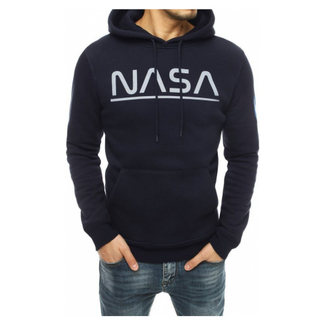 TMAVĚ MODRÁ MIKINA NASA BX4782 BASIC