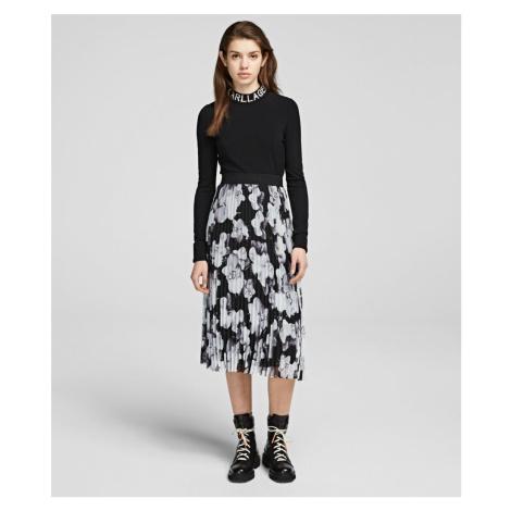 Sukně Karl Lagerfeld Orchid Print Pleated Skirt - Různobarevná