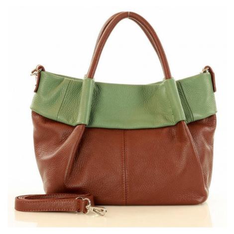 Přírodní kožená taška model 151461 Mazzini UNI