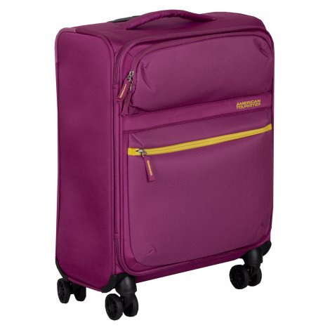 Fialový cestovní kufr na kolečkách American Tourister