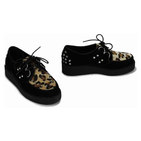 Černé dámské kvalitní tenisky s motivem leoparda Workie