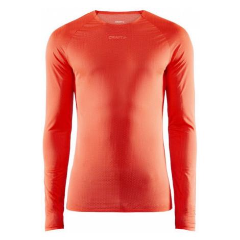 Pánské tričko CRAFT Nanoweight LS oranžová