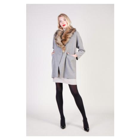 Fontana dámský šedý kabát Fontana 2.0