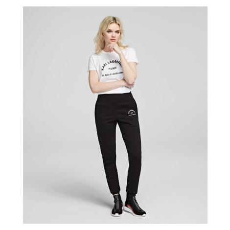 Tepláky Karl Lagerfeld Address Logo Track Pants - Černá
