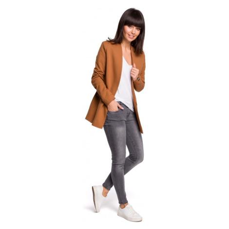 Bavlněné módní blejzr/sako s kapsami bez zapínání - AŽ 5XL BeWear