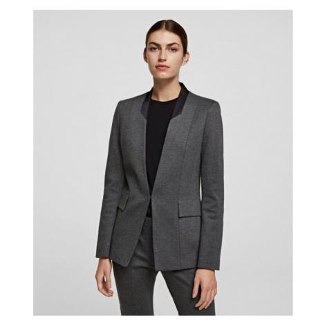 Sako Karl Lagerfeld Punto Jacket W/ Satin Lapel - Šedá