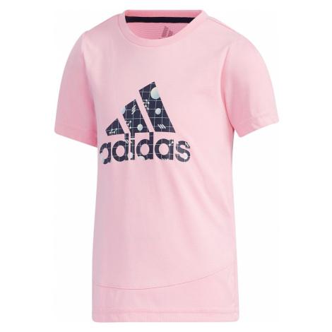 ADIDAS PERFORMANCE Funkční tričko bílá / světle růžová / světlemodrá / noční modrá
