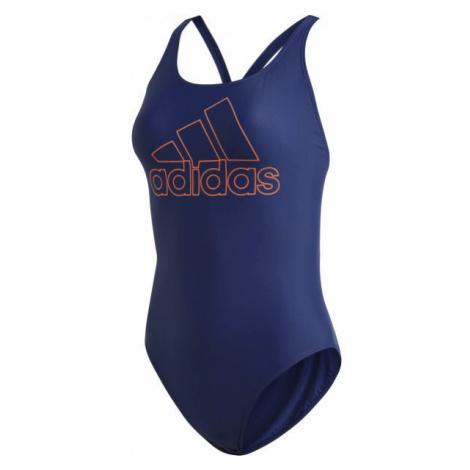 adidas ATHLY V LOGO SWIMSUIT modrá - Dámské plavky