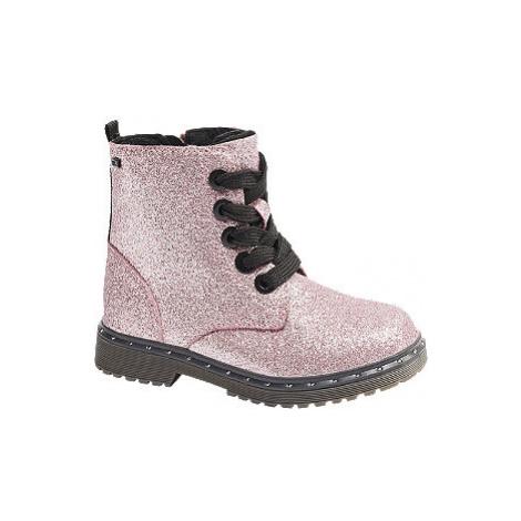 Růžová kotníková šněrovací obuv se zipem Tom Tailor s TEX membránou