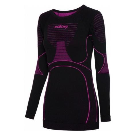 Viking Etna Lady triko s dlouhým rukávem black/pink