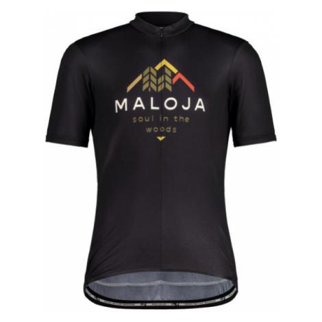 Pánský cyklistický dres Maloja SchwarzerleM. 1/2 moonless