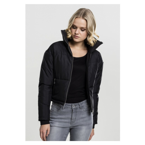 Ladies Oversized High Neck Jacket - black