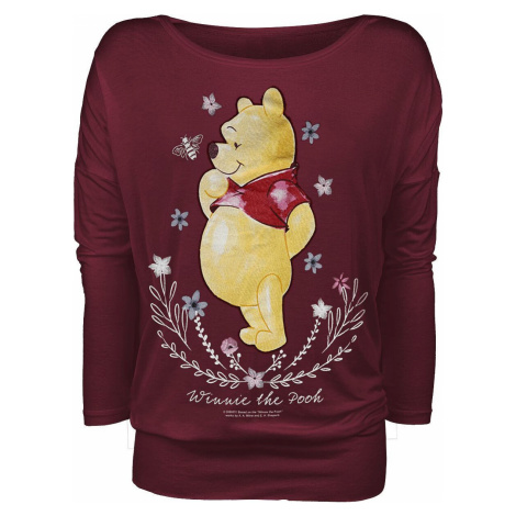 Winnie The Pooh Flowers Dámské tričko s dlouhými rukávy červená