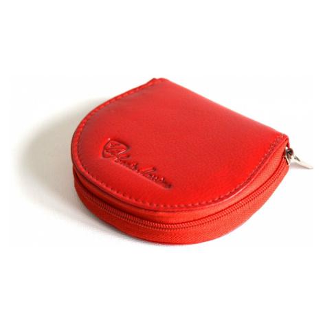 Peněženka na drobné se zipem malá kožená červená, 9 x 2 x 9 (SV00-1715.077-00KUZ)