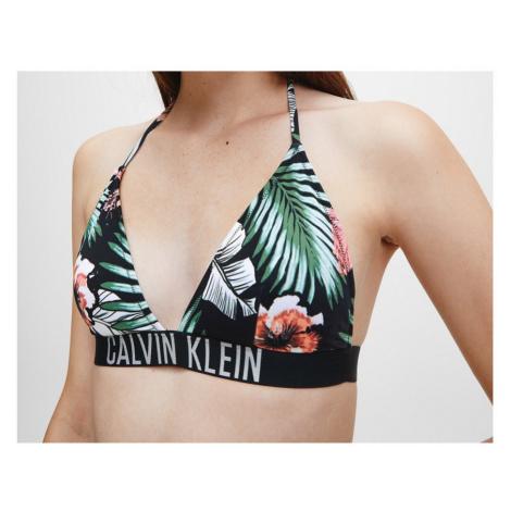 Calvin Klein Calvin Klein dámský květinový bikiny top FIXED TRIANGLE-RP-PRINT