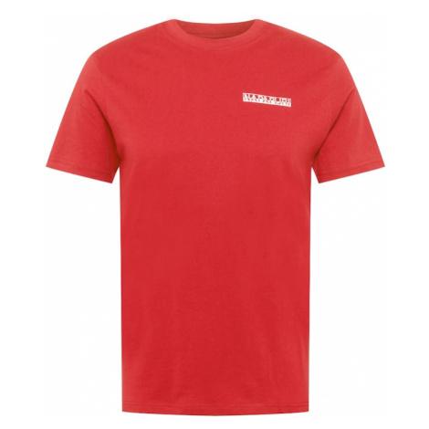 NAPAPIJRI Tričko 'S-SURF' červená / bílá / červená třešeň