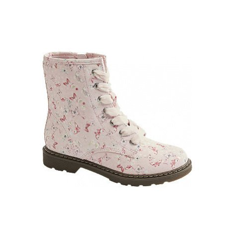 Růžová kotníková obuv se zipem Graceland