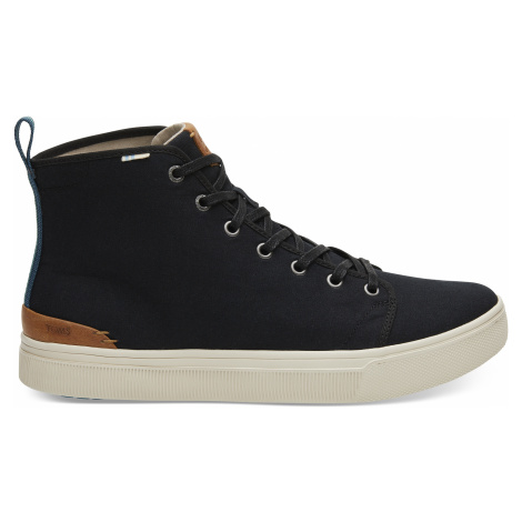 Black Canvas Trvl Lite High Men Sneaker Toms