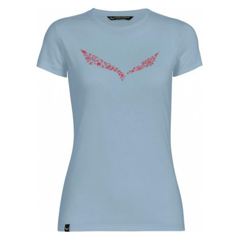 Dámské turistické tričko Salewa Solid Dry W S/S T-Shirt Malta Mélange