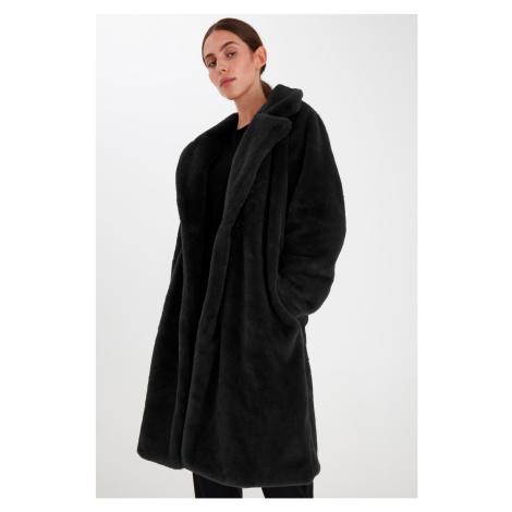 Ichi černý zimní kabát Ihhaya JA Black