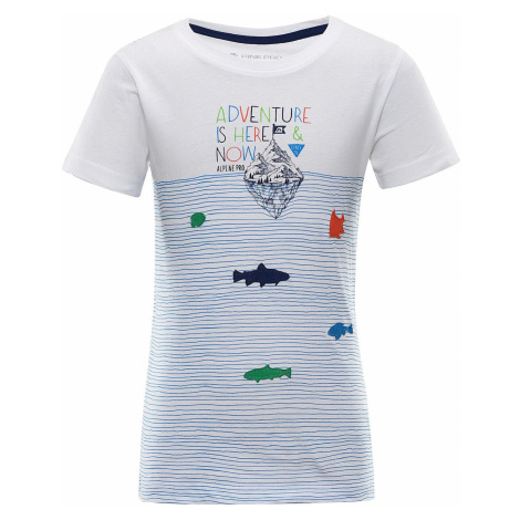 Dětské triko Alpine Pro MARINO - bílo-modrá