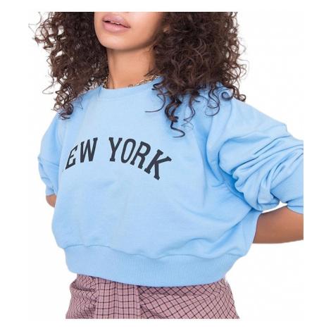 Světle modrá dámská mikina new york