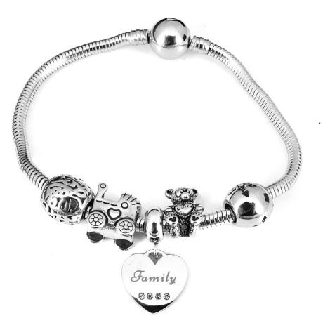 Linda's Jewelry Náramek s přívěsky Rodinná pouta chirurgická ocel INR046 Délka: 19