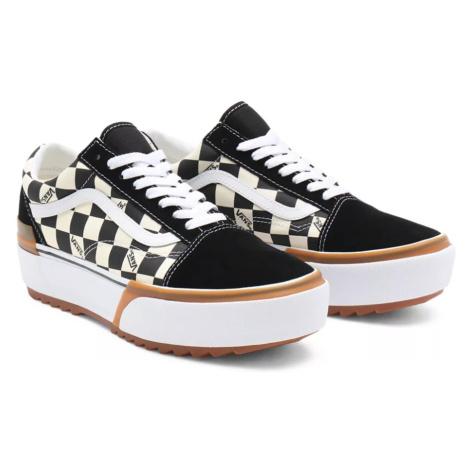 Boty Vans Old Skool Stacked checkerboard multi/true white