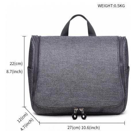 Šedá cestovní kosmetická taška Marla Lulu Bags