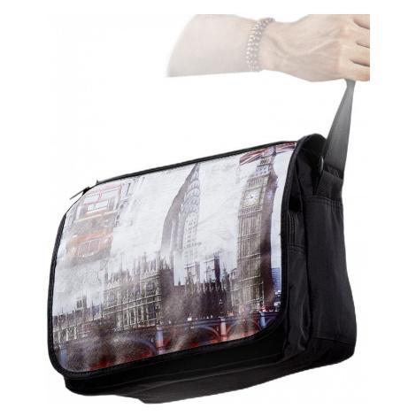 Pánská černá taška přes rameno s motivem londýna Rovicky
