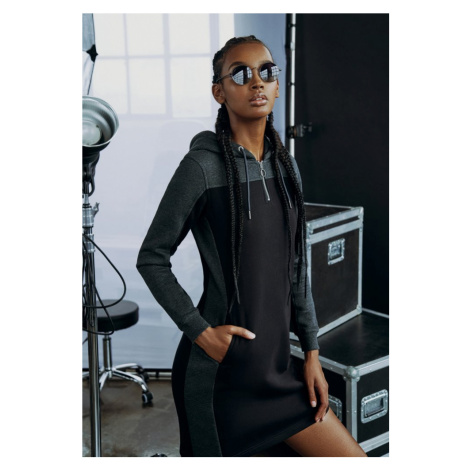 Ladies 2-Tone Hooded Dress Urban Classics