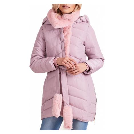 Dámská zimní růžová bunda BASIC