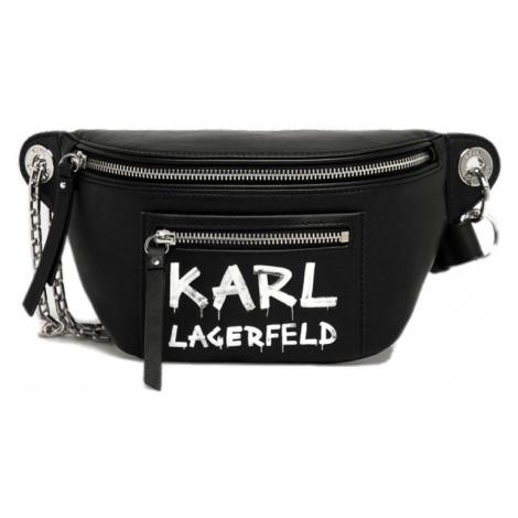 Černá kožená ledvinka - KARL LAGERFELD | Graffity