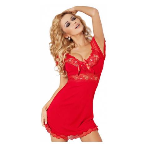 Dámská viskózová noční košilka Paulina červená DKaren
