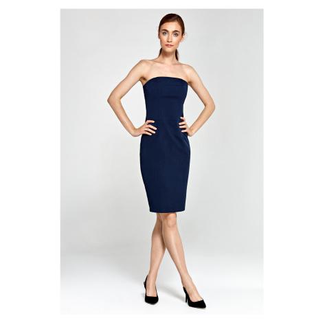 Přiléhavé šaty bez rukávů jednobarevné Nife
