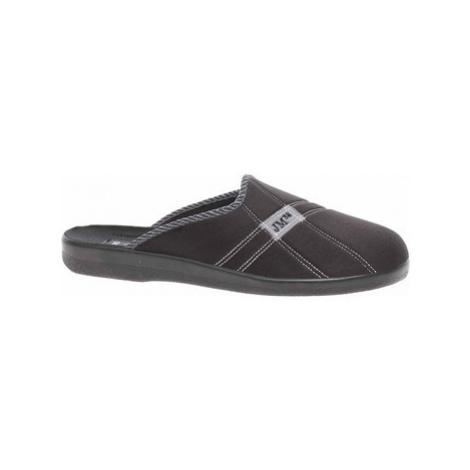 Rejnok Dovoz Pánské domácí pantofle Rogallo 4110-013 černá Černá