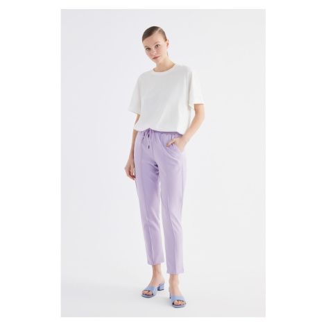Trendyol Lila Laced Carrot Trousers