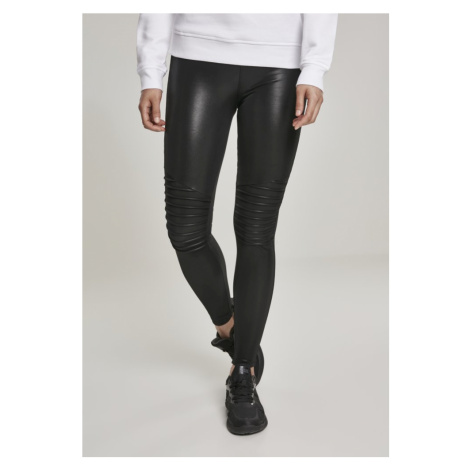 Legíny Urban Classics Ladies Faux Leather Biker Leggings