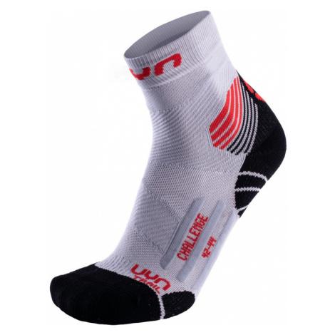 Pánské běžecké ponožky UYN Challenge Trail Running Socks Grey - Red