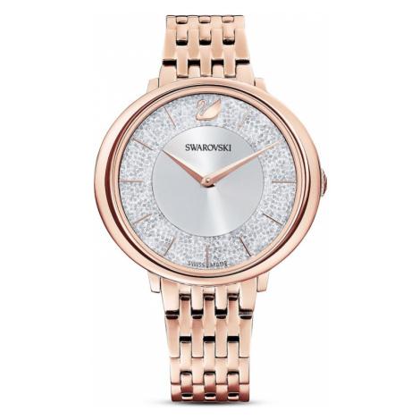 Swarovski Analogové hodinky stříbrná / růžově zlatá