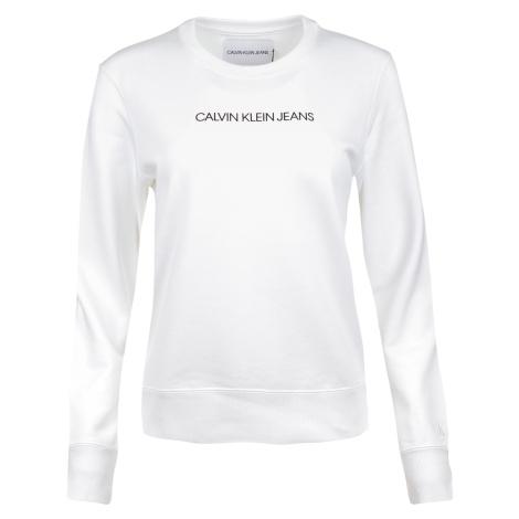 Dámská bílá mikina bez kapuce Calvin Klein
