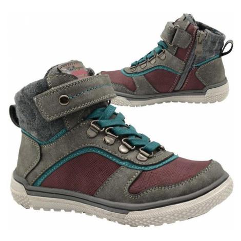 boty chlapecké celoroční, Bugga, B00146-09, šedá