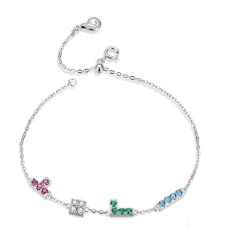 Linda's Jewelry Stříbrný náramek Tetris Ag 925/1000 INR080