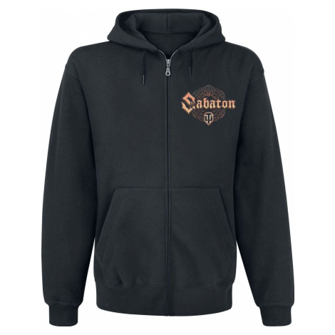 Sabaton World Of Tanks Mikina s kapucí na zip černá